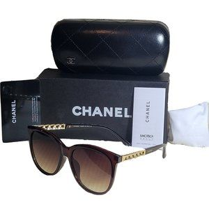 Chanel chain arms sunglasses